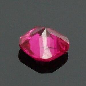 Оптовая продажа, 1 шт., 5 мм, Рубиновая Подушка с квадратным вырезом, натуральный драгоценный камень AAA для самостоятельного изготовления ювелирных изделий, ожерелий, подвесных колец, изготовление сережек