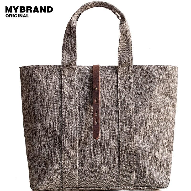 MYBRANDORIGINAL vintage canvas shoulder women bag high quality canvas handbag for man casual large capacity men tote bag B128 casual canvas satchel men sling bag