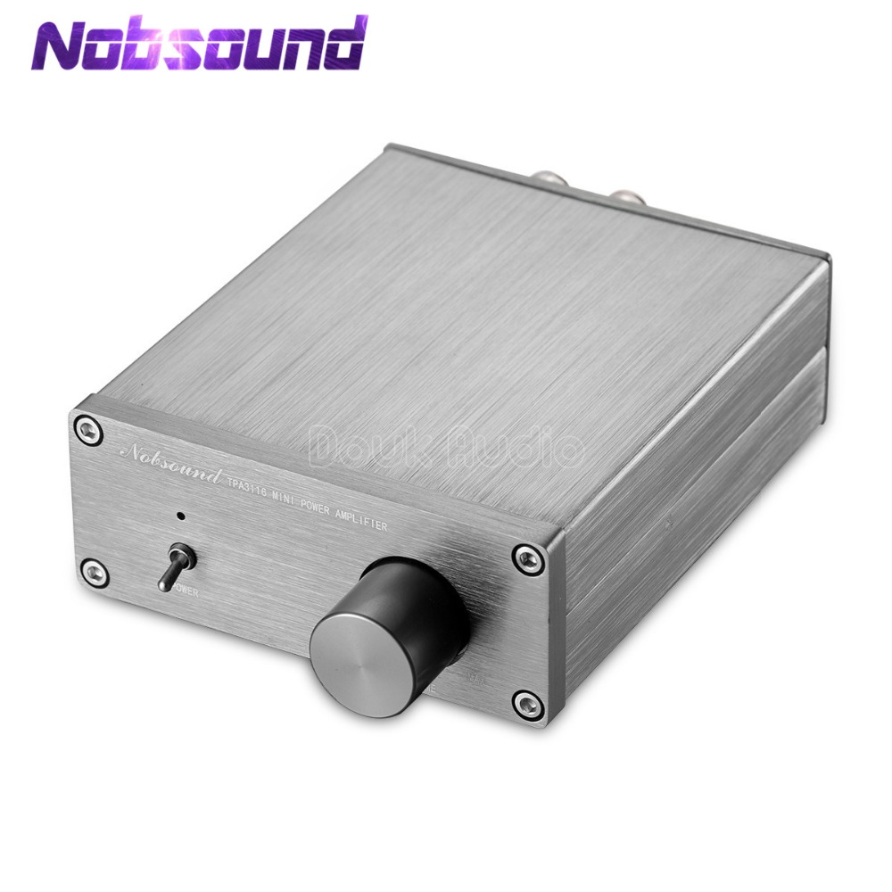 Nobsound Mini Digital Power Amplifier HiFi TPA3116 Stereo 2.0 Channel Home Audio Amplifier 50W+50W
