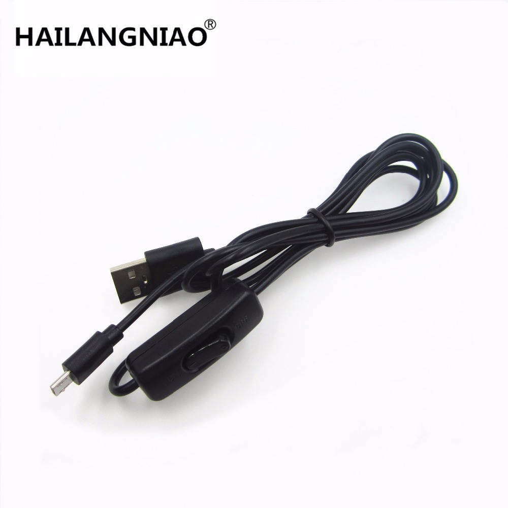 Raspberry Pi Power Cable with switch ON/OFF button Micro USB charging cable for Banana PI Raspberry Pi 2 power cable with switc 5pcs lot high quality 2 pin snap in on off position snap boat button switch 12v 110v 250v t1405 p0 5