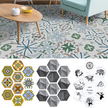Wall Tiles Stickers Self Adhesive For Bathroom and Kitchen Waterproof  PVC Wallpaper Home Decor Living Room Floor 10Pcs