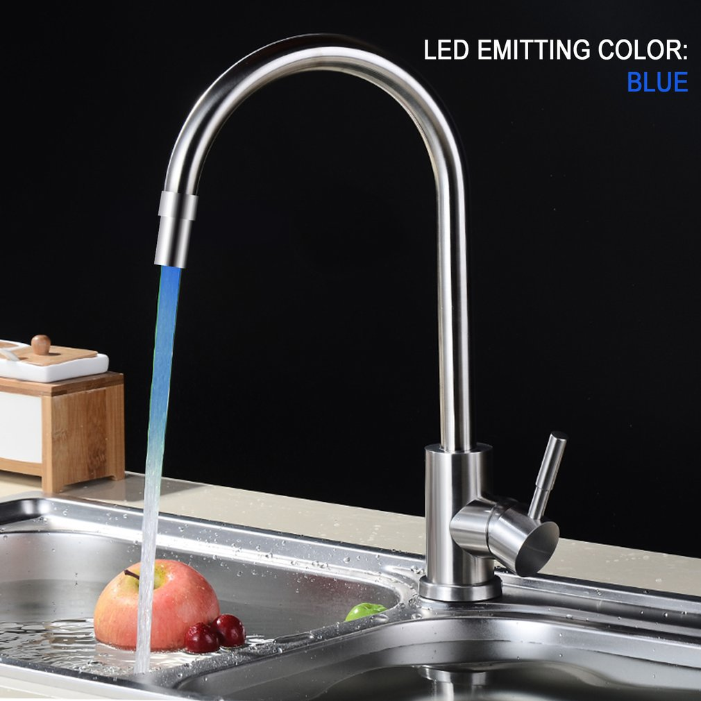 7 Colors LED Water Faucet Stream Light Changing Glow Shower Stream Tap Head Pressure Temperature Sensor Bathroom no converter7 Colors LED Water Faucet Stream Light Changing Glow Shower Stream Tap Head Pressure Temperature Sensor Bathroom no converter