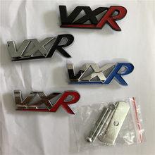 Emblema 3d de metal para frente da grade do carro, emblema de metal para vauxhall, astra, vectra zafira, acessórios automotivos, 1x vxr