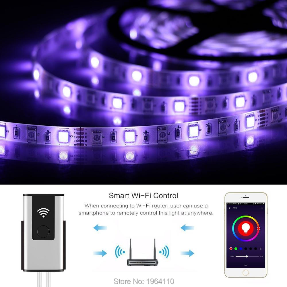 Smart WIFI Wireless Controller for LED Light Strips to Sync Light with Music in Amazon Alexa and Google Home with APP Womo Smart_2