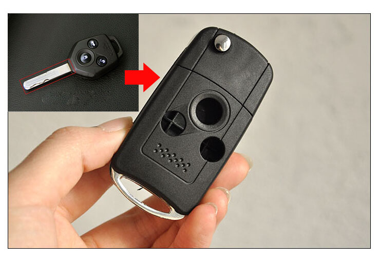 Subaru Replacement Key >> Us 8 23 16 Off 3 Buttons Replacement Modified Flip Folding Remote Key Case Shell For Subaru Legacy Forester Fob Key Cover In Car Key From