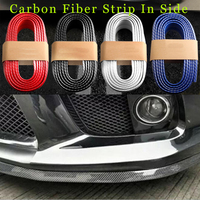 Recomend auto bumper carbon fiber Rubber protection Anti collision car strips 250cm(98.4inch) For XJ XF XK X TYPE free shipping