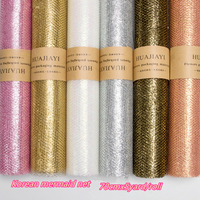 70cmx8yard/roll Mermaid Gauze Gold Mesh Flower Wrapping Paper Craft Florist Supplies Present Gift Wrap Material