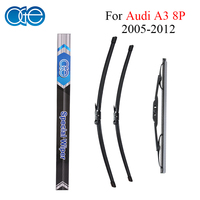 Combo Silicone Rubber Front And Rear Wiper Blades For Audi A3 8P 2005 2012 Windscreen Car