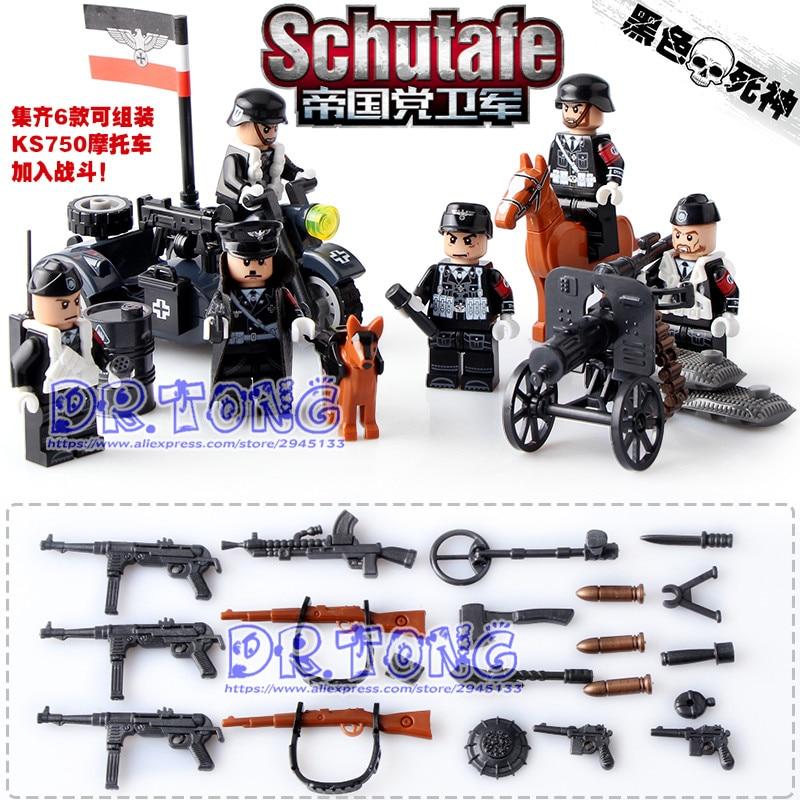 DR.TONG German Waffen  World War 2 Military Army Gun Weapon  Soldier Navy Seals Building Blocks Bricks Toys KID Gifts