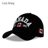 Nueva llegada algodón gorras Canadá béisbol CapBA378 bandera de Canadá sombrero  SnapBack ajustable mens Gorras de 5835d51288d