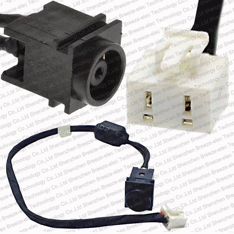 5 Pieces/lot ORIGINAL NEW LAPTOP AC DC POWER JACK SOCKET CABLE Connector Wire For SONY VAIO VGN-N38E VGN N VGNN 073-0001-2492_A