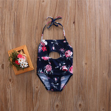 2017 Children Bathing Suit Cute Children's Swimsuit Girls Flowers Printed Baby Girl Swimwear One-piece Swimsuits Beach Clothes