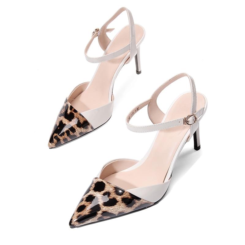 Negro Mujeres De Calzado Verano Puntiagudo Mujer Alto Zapatos Tacón Las Wetkiss gris Fiesta Del Pie Dedo Sandalias Cuero Estampado 2019 Leopardo 4qxv5FHX