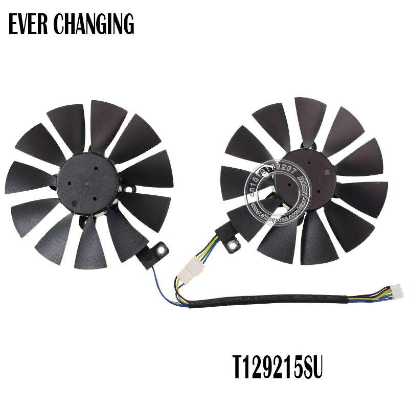 87MM Ventilador Cooler Para ASUS GTX1060 1070 Ti RX 470 570 580 Placa Gráfica Everflow T129215SU PLD09210S12HH 28mm ventiladores de refrigeração