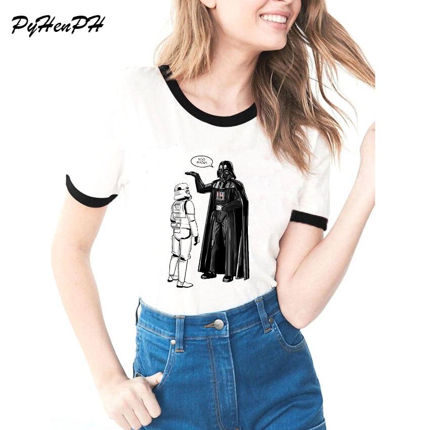 2018   T     Shirt   Women Star Wars Design   t  -  shirt   Aren'  t   you a Little Short Printed Tshirt Feminist Women Tops Drop Shipping