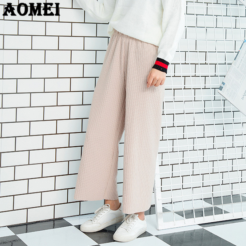 Flight Tracker Vintage Cotton Linen Solid Elastic Waist Wide Leg Pants New Hot Women Ladies Autumn Casual Loose Pockets Long Pants Trousers Easy To Lubricate Bottoms