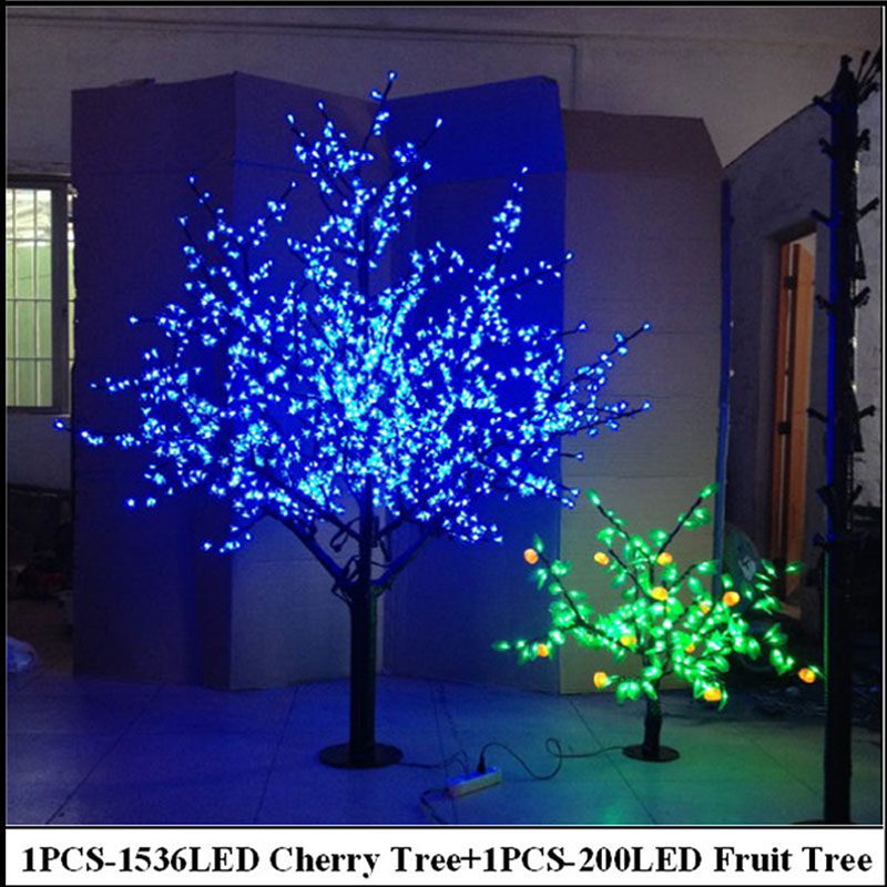 2meter Cherry Tree Amp 0 8meter Fruit Tree Blue Christmas