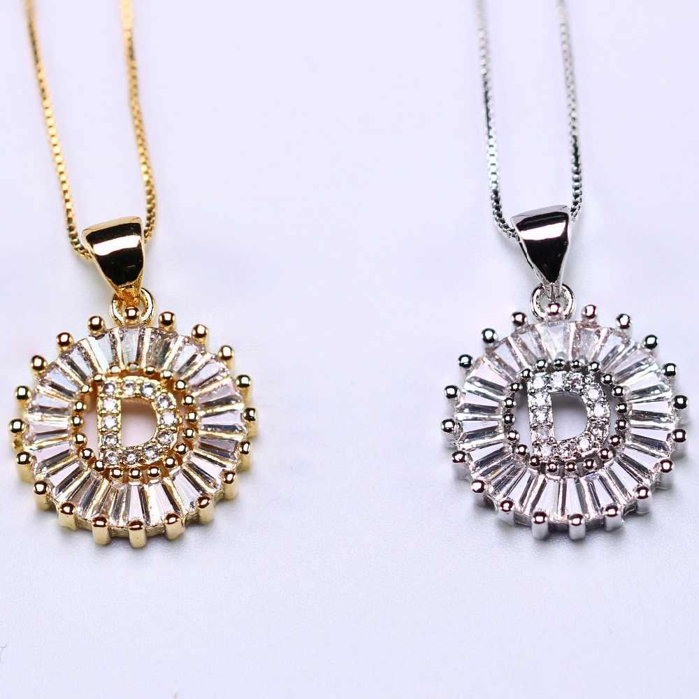 Ожерелье с надписью индивидуальные Инициалы ожерелье ABCDEFGHIJKLMNPRSTUXVY для женщин ювелирные изделия подарок