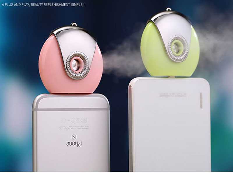 Mini phone Humidifier Aromatherapy essential oil diffuser and Mist Maker Fogger Beauty replenishment ,for IOS apple 6 6S 6 Plus