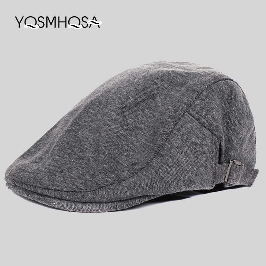 4b7aea45472 Vintage Beret Caps Men Cotton Sun Visor Caps Beret Hat Male Bonnet Headwear  Women Casual Cap