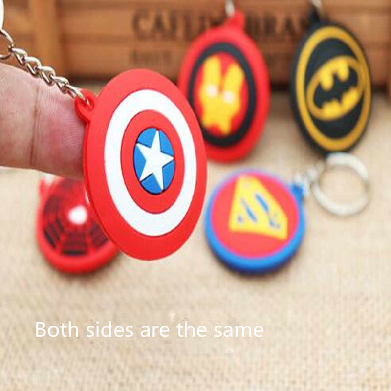 Cosplay The Avengers Captain America Superman Spider Man Metal Silica Gel Key Buckle Badge Unisex Five styles Marvel Cinematic
