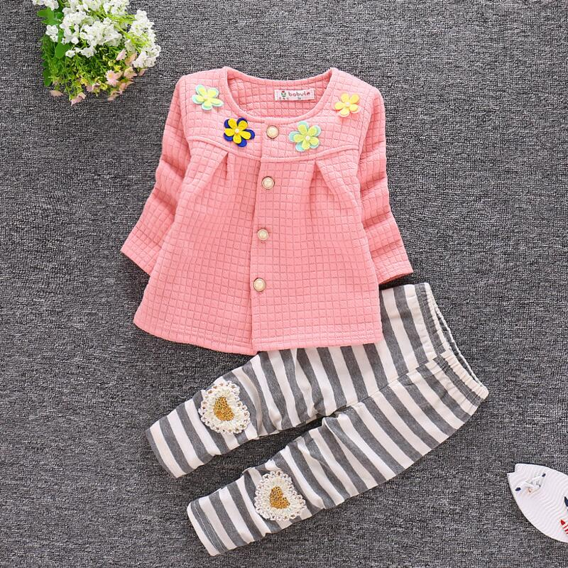 Cemigo 2017 new style Baby clothes sets autumn and spring girls clothing sets baby girl clothes set long-sleeve and pants T-001 new girls sets 2018 spring autumn baby
