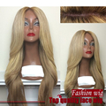 Qualidade superior ombre loira peruca de cabelo Sintético Dianteira Do Laço completo perucas cheias do laço peruca sem cola onda peruca dianteira do laço para o preto mulheres