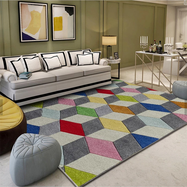 Nordic Minimalist Abstract Carpets For Living Room Rug Modern European  Coffee Table Mat/Rugs Bedroom