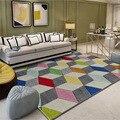 Nordic minimalistischen abstrakte Teppiche für wohnzimmer teppich Modernen Europäischen tisch matte/Teppiche Schlafzimmer nacht modell zimmer Teppich-in Teppich aus Heim und Garten bei