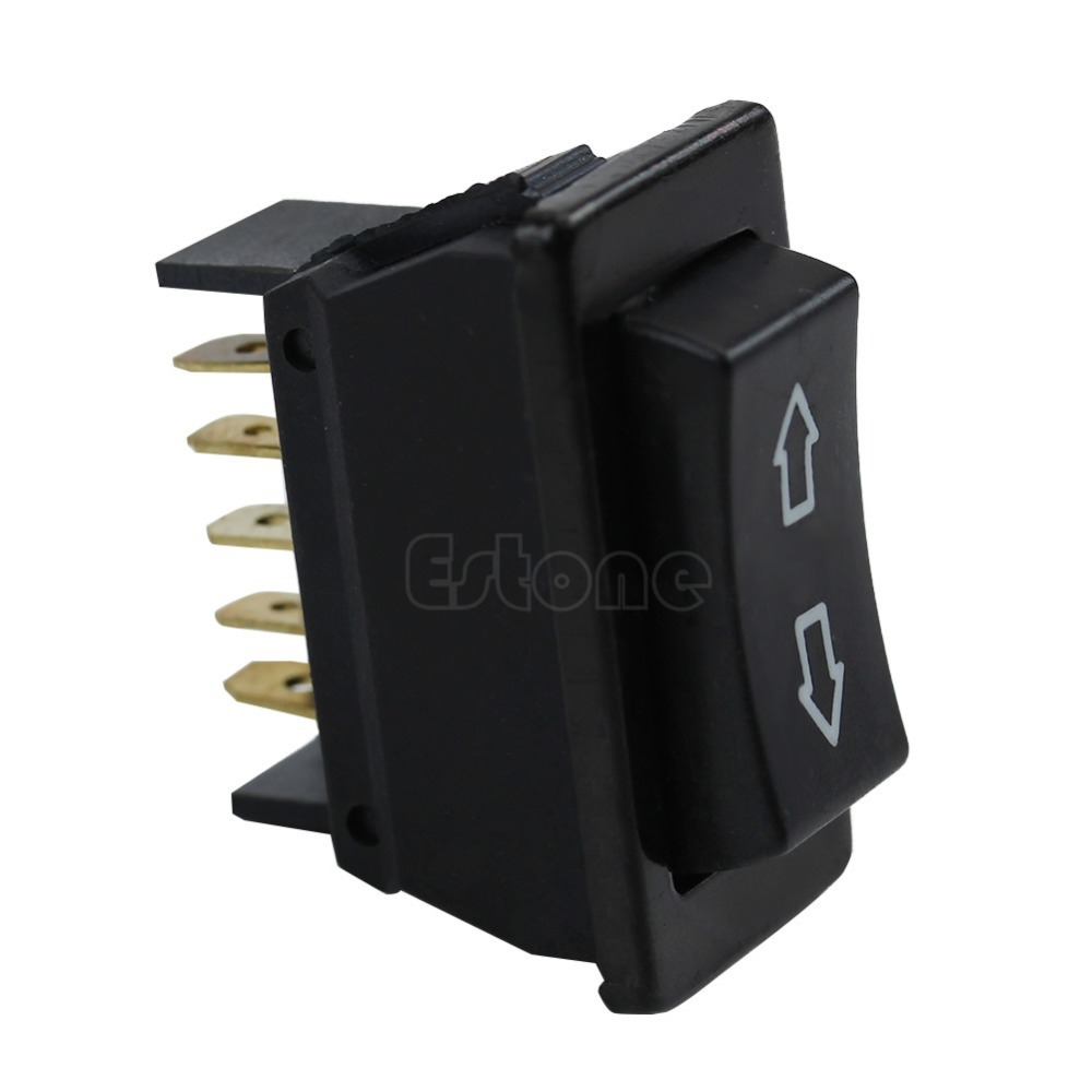 Universal <font><b>DC</b></font> 12V 20A Auto Car Power Window Switch <font><b>5</b></font>-pin ON/OFF SPST Rocker Black image