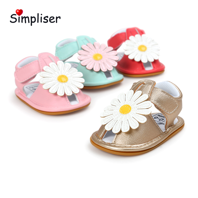 Dress Shoes For Newborn 0-18 Moths Baby Sandals Soft Leather Flower Toddler Shoes Infant ...