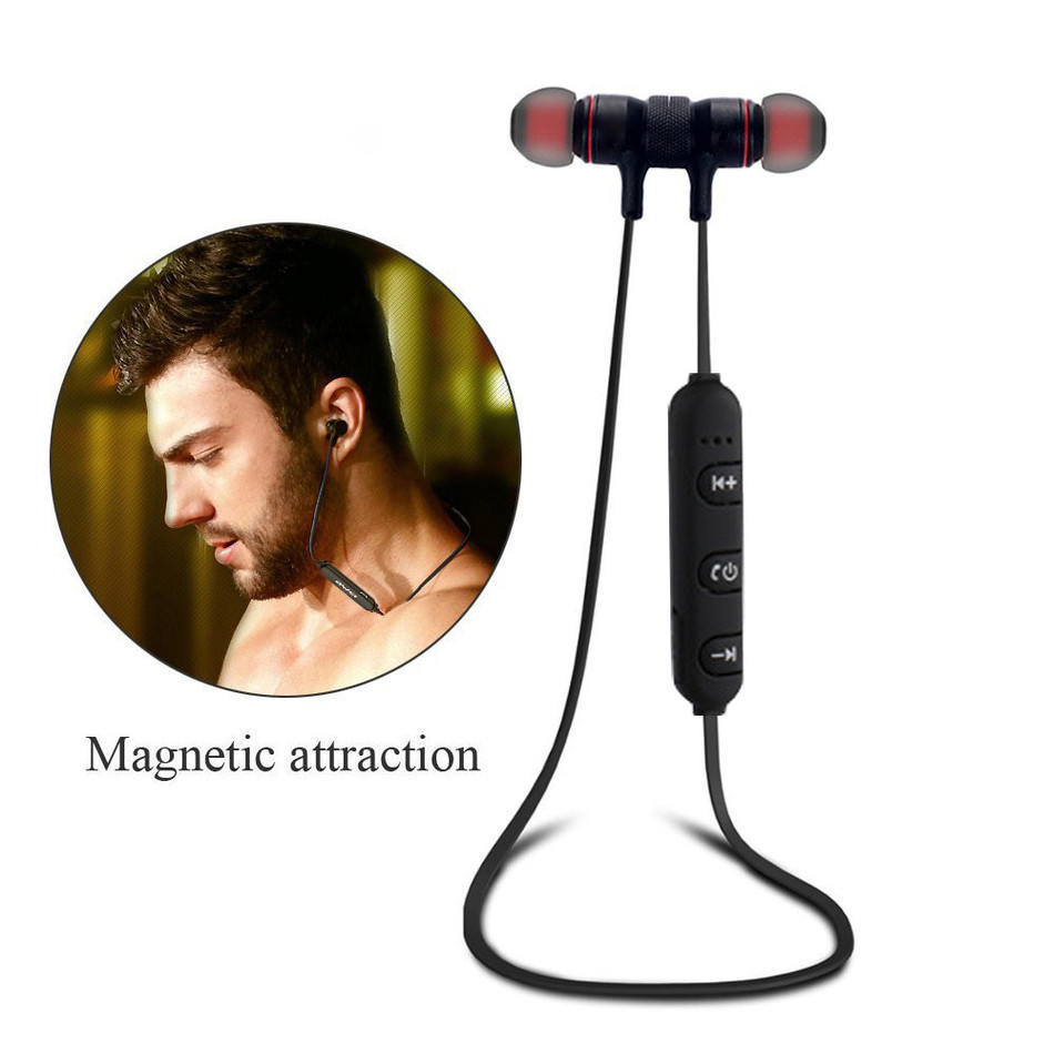 HESTIA In Ear Wireless Bluetooth Earphones Sport Magnetic Headset Aptx Stereo Earphone auriculares With Mic For Mobile Phone universal led sport bluetooth wireless headset stereo earphone ear hook headset for mobile phone with charger cable page 2