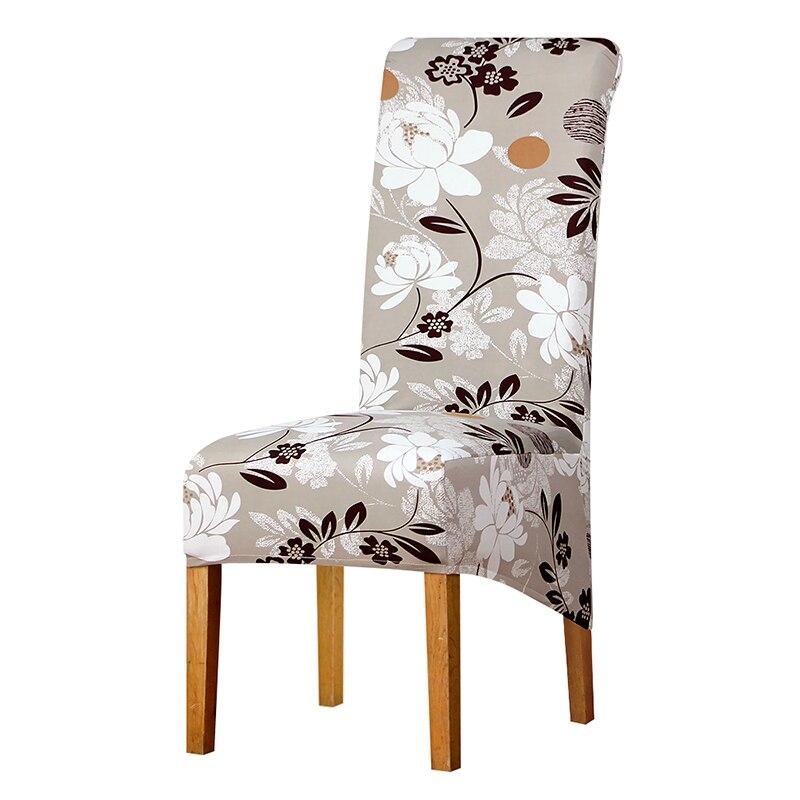 Haut dossier grande taille chaise couverture longue dos grande chaise couvre siège couverture hôtel fête Banquet housse de chaise décor style européen