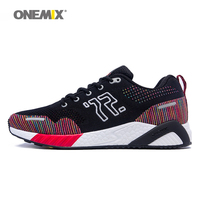 ONEMIX bona men running shoes colorful knitted red sneakers memory damping soft outsole dispel moisture deodorant insole running