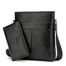 HONGYANDAISHU (Mit eine Brieftasche) Echtem Leder Mode Für Männer Taschen Männer Messenger bags Business herrenreisetasche leder crossbody tasche