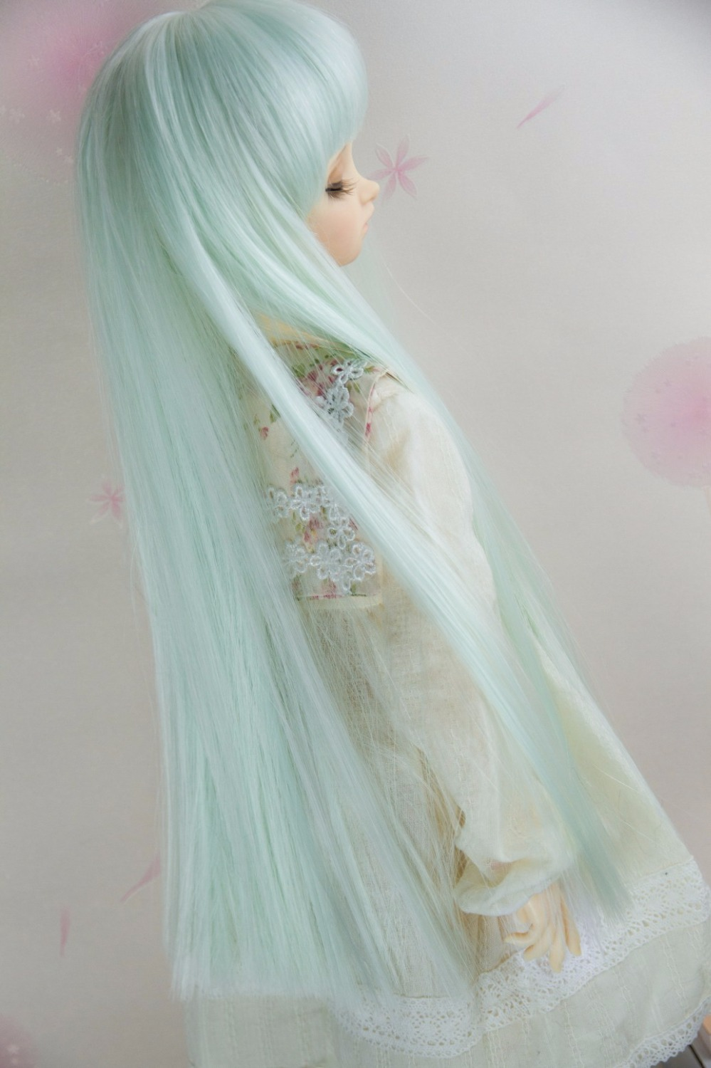 BJD Doll Wigs Long Straight Hair With Bangs Available For 1/6 1/4 1/3 Size BJD DD SD Doll Accessories Straight Wigs