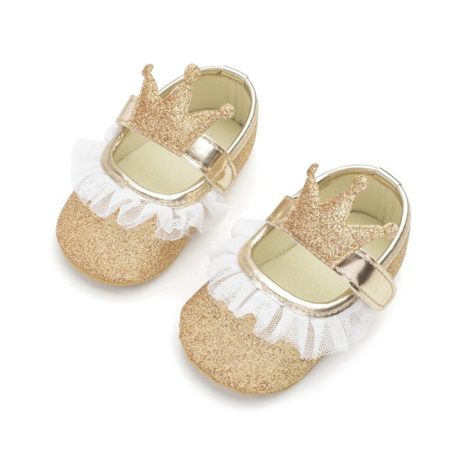 2019 Fashion Princess Baby Girls Shoes Crown Shaped Newborn Infant Toddler Soft Bottom First Walker  1