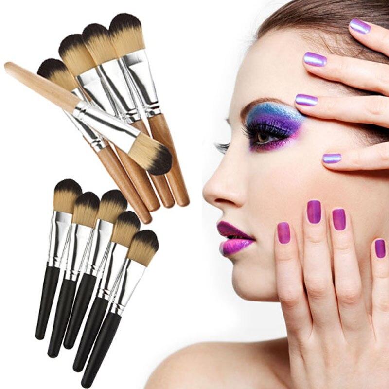 5pcs Make Up Brush Set Mineral Powder Eyeshadow Blush Brush Facial Cosmetic Makeup Concealer Eyebrow Brush FE#8 make up factory blush brush