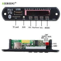 Kebidu MP3 Jogador Decodificador Bordo USB TF Rádio FM AUX Sem Fio Bluetooth Módulo 5V 12V 24V WMA MP3 Áudio De 3.5mm Para O Carro para o iphone