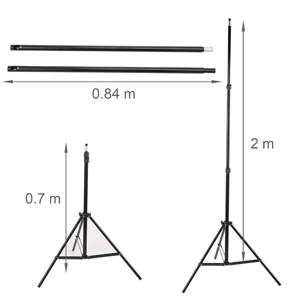 photography 2x2m 65 feet home photo studio backdrop stand background support holder kit system tripod with carry bag free clampin photo studio accessories