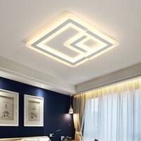 Modern High Brightness Square LED Ceiling Lights For Living Dining Room Bed Room With Remote Luxury