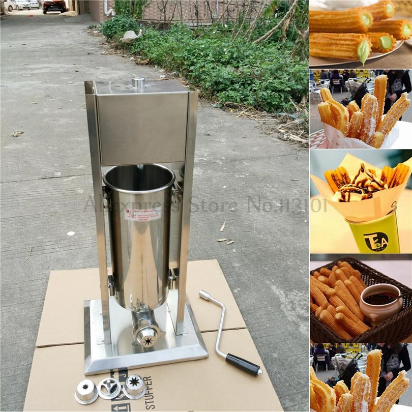 Machine À Churros Manuelle D'acier Inoxydable D'opération Churro Maker Capacité 3 Litres Neuf