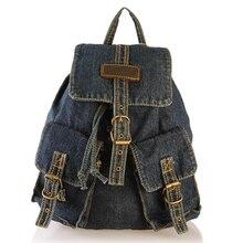 Для женщин рюкзаки для девочек-подростков кампуса школы сумки винтажные джинсовые рюкзак дорожная девушки сумка туристические рюкзаки