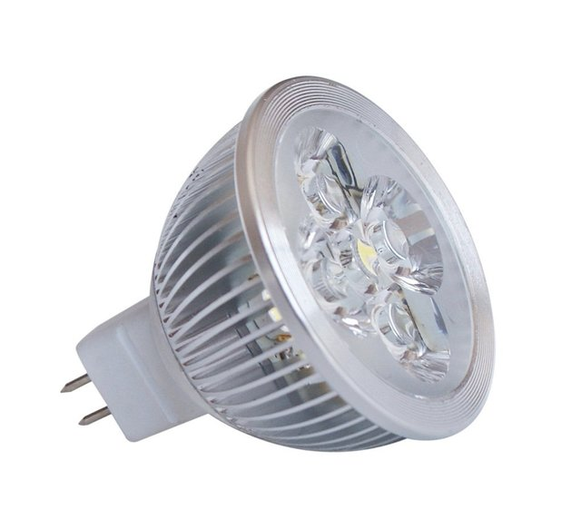 4*1W MR16 LED spotlight;dia 50*55mm;90lm/w,DC12V input;warm white color