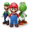 3 шт./лот Super Mario Bros Луиджи Марио Фигурку ПВХ Super Mario рисунок Модель Кукла 13 см Рисунок Игрушки Для Детей/детские Игрушки
