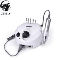 Jelbo 35000RPM Pro Electric Nail Drill File Bit Machine Manicure With Upgraded Version Silicone Case Anti