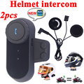 2pcs Capacete Motoqueiro BT Intercom 1000M Bluetooth Interphone Headset Motorcycle Helmet Speakers 2 Riders Full Duplex Intercom