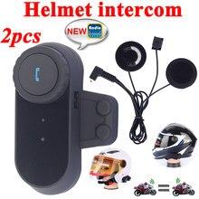 2pcs Capacete Motoqueiro BT Intercom 800M Bluetooth Interphone Headset Motorcycle Helmet Speakers 2 Riders Full Duplex Intercom