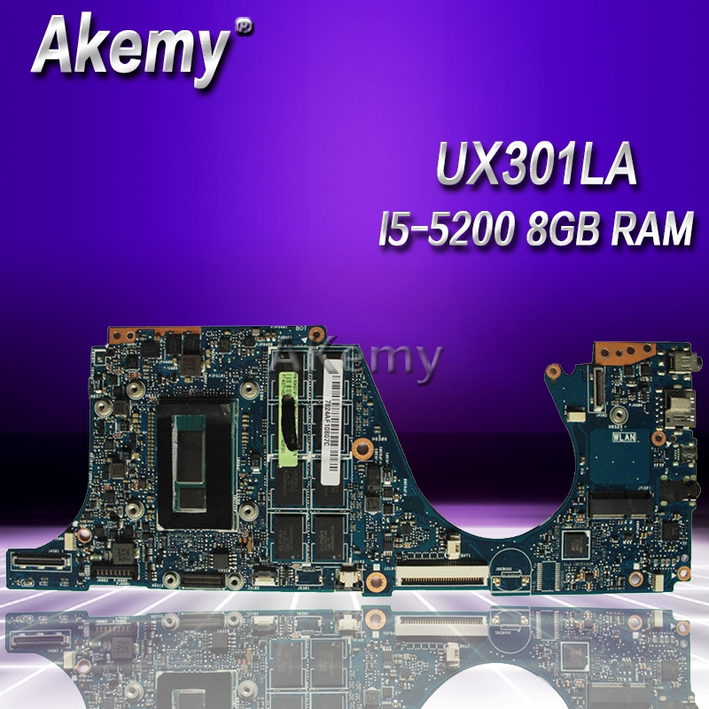 Akemy UX301LA Laptop motherboard for ASUS UX301LA UX301LAA UX301L UX301 Test original mainboard I5 5200 8GB