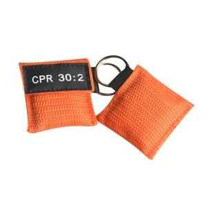 Image 5 - 100 шт. CPR маска для реанимации односторонний клапан жизненный ключ тренировочная карманная маска для защиты лица инструмент для ухода за здоровьем оранжевый